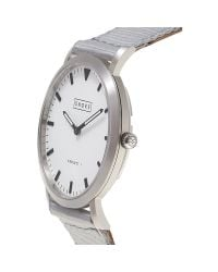 Shore Projects Gray Unisex Poole Silver Plated Canvas Strap Watch