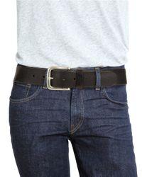 John Varvatos - Black Textured Leather Belt for Men - Lyst