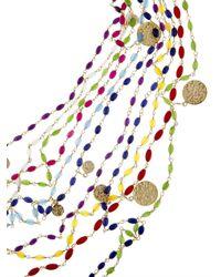 Rosantica By Michela Panero | Metallic Divina Gitani Agate Bead Necklace | Lyst