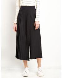 Pixie Market - Black Bi Pleated Crop Pants - Lyst