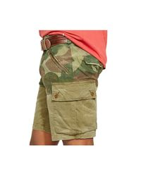 Polo Ralph Lauren | Green Straight-Fit Pieced Shorts for Men | Lyst
