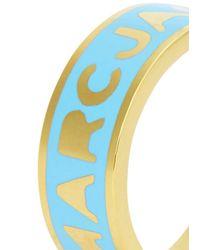Marc By Marc Jacobs - Logo Disc-o Blue Enamel Ring - Lyst