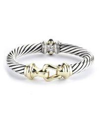 David Yurman - Metallic Pre-owned Rhodolite Garnet Buckle Bracelet - Lyst