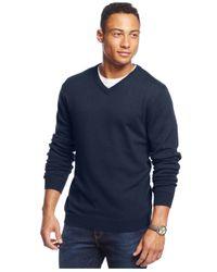 Weatherproof   Blue Vintage Solid V-neck Sweater for Men   Lyst