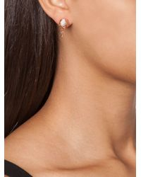 Eddie Borgo | Pink Pavé Bud Stud Earrings | Lyst