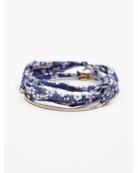 Free People | Blue Dafne Womens Vintage Fabric Bracelet | Lyst