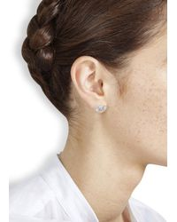 Marc By Marc Jacobs | Metallic Silver Tone Bow Tie Stud Earrings | Lyst