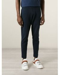 Acne Studios | Blue Cropped Track Pant for Men | Lyst