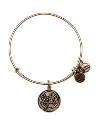 ALEX AND ANI - Metallic New York Yankees Primary Logo Bangle - Lyst