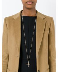 Givenchy | Blue Small Cross Pendant Necklace | Lyst
