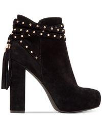 Jessica Simpson | Black Marguerit Platform Booties | Lyst