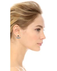 DANNIJO | Black Joni Earrings - Clear/jet/ox Silver | Lyst
