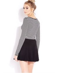 Forever 21 - Black Seaside Striped Crop Top - Lyst