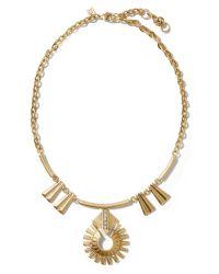 Banana Republic | Metallic Regal Flower Necklace | Lyst