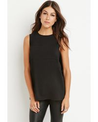 Forever 21 - Black Layered Tulip-back Top - Lyst