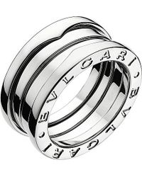 BVLGARI | Gray B.zero1 Three-band White Gold Ring | Lyst