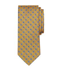 Brooks Brothers | Yellow Parquet Flower Tie for Men | Lyst