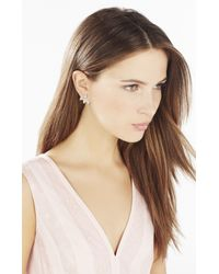 BCBGMAXAZRIA - Metallic Pave Triangle Earrings - Lyst