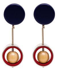 Marni | Blue Drop Clip-On Earrings | Lyst