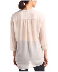BOSS Orange - Natural Blouse 'evena' In Silk And Viscose - Lyst