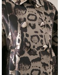Blumarine - Multicolor Printed Coat - Lyst