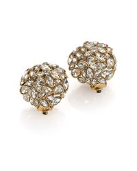 Alexis Bittar | Metallic Miss Havisham Jagged Crystal Dome Clip-on Button Earrings | Lyst