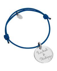 Merci Maman | Metallic Sterling Silver Personalised Disc Bracelet | Lyst