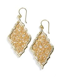 Panacea | Metallic Beaded Chandelier Earrings | Lyst