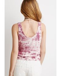 Forever 21 - Pink Tie-dyed Tank - Lyst