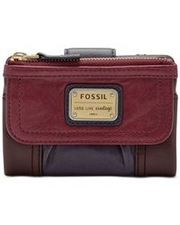 Fossil | Purple Emory Leather Multifunction Indexer | Lyst