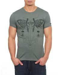 William Rast | Gray Graphic Tee for Men | Lyst