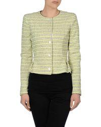 Armani Jeans Green Peplum Stripe Jacket