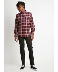 Forever 21 - Purple Plaid Flannel Shirt for Men - Lyst