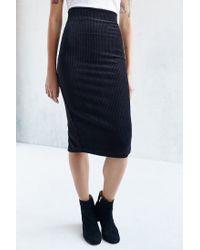 Silence + Noise | Black Claudia Midi Skirt | Lyst