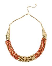 Mary Portas | Red Gold Midas Necklace | Lyst