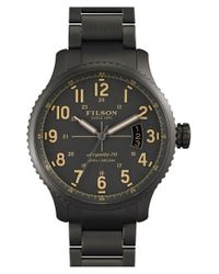 Filson - Gray 'the Mackinaw Field' Bracelet Watch for Men - Lyst