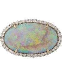 Irene Neuwirth | Metallic Diamond, Lightning Ridge Opal & White Gold Ring | Lyst