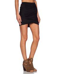 Bella Luxx   Black Twist Skirt   Lyst