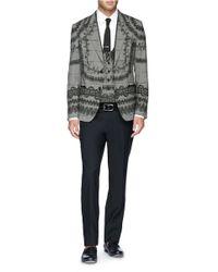 Dolce & Gabbana White 'gold' Soft Bib Cotton Poplin Shirt for men
