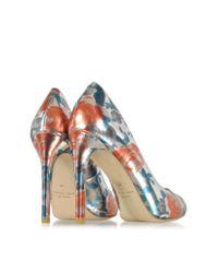 Marc By Marc Jacobs - Blue Jerrie Rose Specchio Persimmon Orange Leather Pump - Lyst