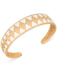 Lucky Brand | Metallic Gold-tone Enamel Cuff Bracelet | Lyst