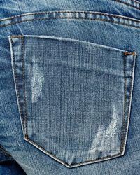 One Teaspoon - Hoodlums Distressed Skinny Jeans In Pure Blue - Lyst