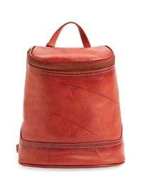 Frye Red 'small Campus' Leather Backpack