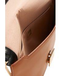 BOSS Blue 'munich Mini Bag' | Leather Envelope Clutch With Shoulder Strap