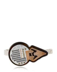 Ledaotto - Metallic Library Of Alexandria Hand Bracelet - Lyst