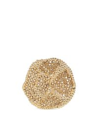 Chloé | Metallic 'eleanor' Crystal Pavé Flower Ring | Lyst