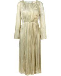 Maria Lucia Hohan - Natural Pleated Silk Midi Dress - Lyst