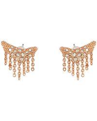 Alexis Bittar | Pink Encrusted Stud Fringe Post Earrings | Lyst