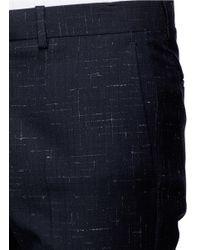 Theory - Blue 'jake W' Cross Hatch Stitching Pants for Men - Lyst