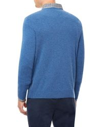 Jaeger | Blue Cashmere Crew Neck Sweater for Men | Lyst